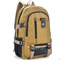 Wholesale Unisex Vintage Canvas Backpack Rucksack Bags Multifunctional Design Men Satchel Bag Backpack Laptop Bags Military Tactical Backpack