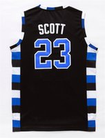 Wholesale Mens Lucas Scott Nathan Scott One Tree Hill Ravens Basketball Jersey All Sewn Colors