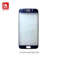 Lentille de verre d'origine avec logo pour Samsung S6 edge LCD écran tactile remplacement de remplacement Livraison gratuite