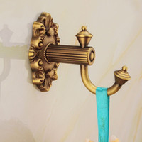 Wholesale Retro Style And Retail Carve Patterns Coat Hook Luxury Solid Brass Robe Hooks Hat Hanger hook
