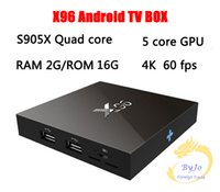 Wholesale X96 TV Box S905X G G or G G Amlogic Quad Core Android Wifi HDMI A K K Kodi Marshmallow Media Player Set top box