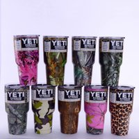 Wholesale Camouflage Color Yeti Cups For oz Cup Stainless Steel Camo Mug Camo Handle Color Free DHL XL G40