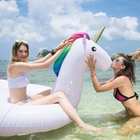 Cheap Inflatable Unicorn 275cm 108 inch Giant Pool Float Swimming Float for Adult Tube Raft Kid Swim Ring Summer Water Fun Pool Toy #B