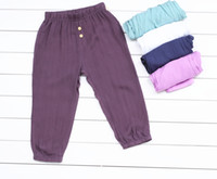 Wholesale The new summer boy anti mosquito pants of the girls Loose pants type Pure cotton fabrics