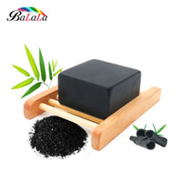bamboo soap holder - black bamboo charcoal handmade soap mold remove blackhead acne shaving skin whitening body soap base cleaner bathing soap holder