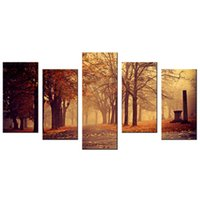 autumn scenery pictures - Beautiful Autumn Scenery Giclee Print Artwork Falling Leaves Canvas Painting Canvas Printing For Decoration