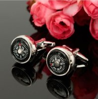 Wholesale Men Cufflinks Unique Cloisonne Compass Cufflinks Wedding Business Accessories for Shirt Your Best Choice