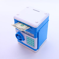 bank safety deposit box - Mini ATM Money Box Safety Electronic Password Chewing Piggy Bank Coins Cash Deposit Mini ATM Machine for Children