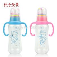 Vente en gros-250ml Pc Calibre standard Brand New bébé bouteille de lait avec poignée Baby Feeding Livraison gratuite
