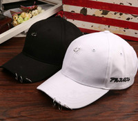 baseball hat pins - BigBang GD BTS EXO GOT7 iron hoop ring baseball hat peaked sun shade Hip Hop pin cap streetfashion man woman adjustable