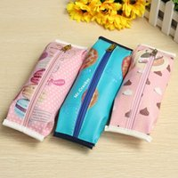 Wholesale Cute Novelty Cracker Pattern School Pencil Case Cute PU Leather Pen Bag Lovely Stationery Pouch Office School Supplies Gift