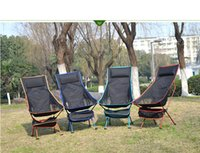 Wholesale New Design Outdoor Lengthen Portable Lightweight Folding Camping Stool Chair With comfortable pillow