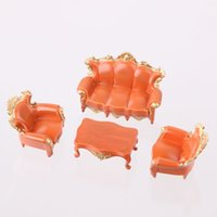 antique settee - 4PCS Antique Sofa Settee Couch Model Dollhouse Architecture Furniture J42