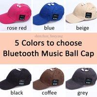 apple baseball hat - 5 Colors Bluetooth Music Earphone Hat Baseball Caps Sunhat With Bluetooth Travel Sports Bluetooth Headset Stereo Headphone CCA4881