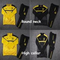 Wholesale Dortmund Autumn Winter Foot Training Jerseys Club Clothing Suit Set Men Shirt Maillot De Foot Breathable