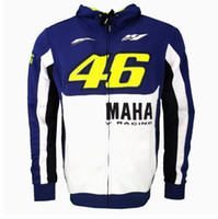 Wholesale 2017 New MOTO GP Valentino Rossi Racing Jackets The Doctor VR46 Hoodies Cotton Motorcycle VR Casual Sports Sweatshirts