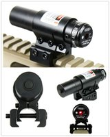 air rifles scope - Tactical red dot Laser Sight and Scope for Air Gun Rifle Weaver Adjustable mm Picatinny Rails Mount Rail for Airsoft