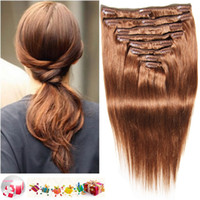 24 Inch clip dans les extensions de cheveux humains 100% brésiliens indien malaisien remy clip cheveux humains dans l'armure cheveux noir brun blonde