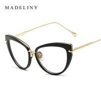 Las gafas de sol de las nuevas de la manera de MADELINY de la venta al por mayor enmarcan los Lunettes de moda UV400 MA026 de los vidrios de lujo del ojo de gato del diseñador de la marca de fábrica clásica