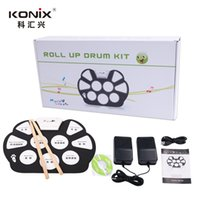 Wholesale Hot Electronic Drum Set USB MIDI Machine Roll up Drums kits With Drum Sticks Drum Pad Srum MD758