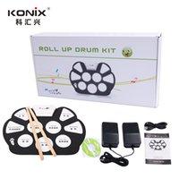 Bon Marché Batterie électronique pad ensemble-Kit de tambour électronique chaud USB / MIDI Machine Roll up kits de batterie / avec tambour battent / 5-Drum / 9-Pad Srum MD758 Livraison gratuite