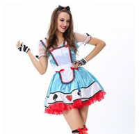 alice german - The cosplay Alice in Wonderland German Beer Festival clown maidservant Maid service card Princess Dress halloween costume