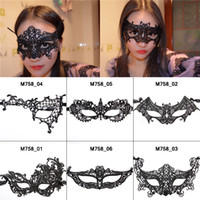 Wholesale Black sexy Lace Masquerade Slipknot Masks Half Face Halloween Mask Cosplay Catgirl Party Female Latex Mask Decorations