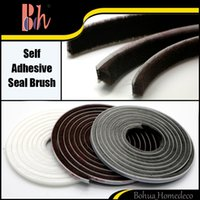 Wholesale 5M Self Adhesive Home Doors Windows Sealing Tape Brush Pile Weatherstripping Draught Excluder Weather Seal Strip Tape x5mm x9mm x5mm