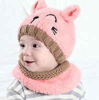 america autumn - new wool embroidery America baby boy girl hat caps
