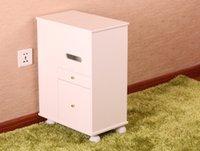 Wholesale Korean solid wood removable dressing table pastoral special solid wood make up cabinet mobile storage locker sofa side cabinet