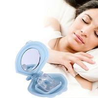 Wholesale Snoring Cessation Soft Silicone Stop Snoring Nose Clip Anti Snore Sleep Apnea Aid Device Night Tray