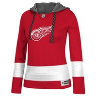 best womens hoodies - Custom Jersey Detroit Red Wings Womens Red Sweaters Customized Any Name Number Ice Hockey Hoodies Jersey Accept Mixed Orders Best Quality