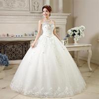 Wholesale Wedding Dress Newest Princess Luxurious Crystal Beading Laciness Bridal Gowns Fashion vestido de noiva Sweetheart Neckline
