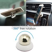accessories cradle - 360 Rotation Magnet Car Holder For Iphone Samsung Accessories GPS Cradle Kit Stand Support Magnetic Smart Mobile Phone Bracket Car Mount