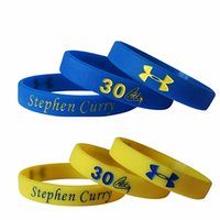 Wholesale 2016 New Stephen curry four color silicone bracelet wristband curry signature cherished sports bracelet Love curry loyal fans