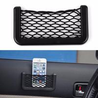 automotive storage boxes - X8cm Auto Pouch Adhesive Visor Box Car Automotive Accessories Storage Holder Net Pocket Organizer Bag For Mobile Phone
