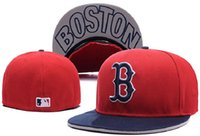 Wholesale New MLB Boston Red Sox Fitted Cap Embroidered Team Logo Baseball Cap Casual Style sport Fit hats Can Mix