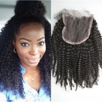 baby tangle - Top Quality Indian Virgin Hair Lace Closure with Baby Hair Kinky Curly Cheap Lace Closure No Tangle