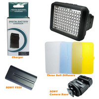 Wholesale XT LED Video Light Bulbs Three Color Diffuser with Rechargeable Battery leds for Canon Nikon Pentax Panasonic Fujifilm
