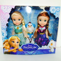 Wholesale New Kids Birthday Gift Playset Frozen Princess Elsa Anna Olaf quot Doll Figures In Box Christmas Favors