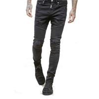 Wholesale New stereo clipping cultivate one s morality men and women elastic foot locomotive jeans