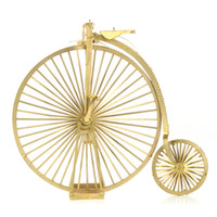 big boy bicycles - High Wheel D Metal Puzzle For Children Brain Game Puzzle Educational Toys Big Small Wheels Bicycle Model Toys For Boy