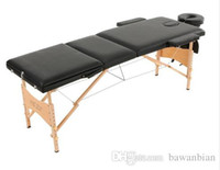 adjustable massage beds - 3 Fold Portable Massage Table Therapy Adjustable Massage Bed Facial SPA Bed Tattoo Beauty Salon Device Black