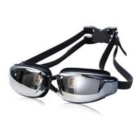 Wholesale New Hot Adult Professional Myopia Swimming Goggles With Box Men Women Swim Eyewear Anti Fog UV Swimming Glasses Water Pool