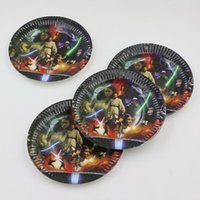 baby paper plates - Cartoon Theme Dishes Star Wars Baby Shower Happy Birthday Party Kids Favors Paper Plates Decoration Supplies Tableware