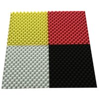 acoustic wall panels - EGGCRATE Convoluted Acoustic Foam Wall Panel Studio Soundproofing Wall Tiles CM