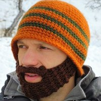 adult gigs - 100 Handmade men s Knit Crochet Wacky Beard Hat Bicycle Mask Face Ski Cap Cool Funny Halloween Christmas Day s Gig Gfit