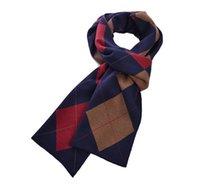 2017 La bufanda 100% de la cachemira de los nuevos hombres de la manera hizo la bufanda elástico azul suave del abrigo del mantón del silenciador del patrón de la tela escocesa del azul de la verificación
