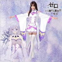 achat en gros de zéro japon-Nouvelle arrivée Japon Anime Costumes Re - Zéro Kara Hajimeru Isekai Seikatsu Amelia Cosplay Vêtements Livraison gratuite par DHL Hot Selling