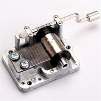 Wholesale New Retro DIY Mechanical Hand Crank Metal Music Box Hand Cranked Musical Movement Parts